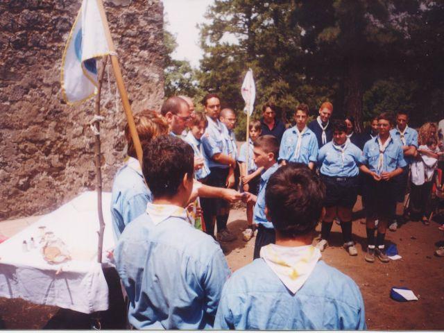 primo campo estivo di Reparto - cerimonia della Promessa